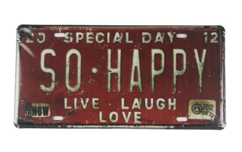 US SELLER Special Day So Happy Live Laugh Love tin sign car plate /& wall decor