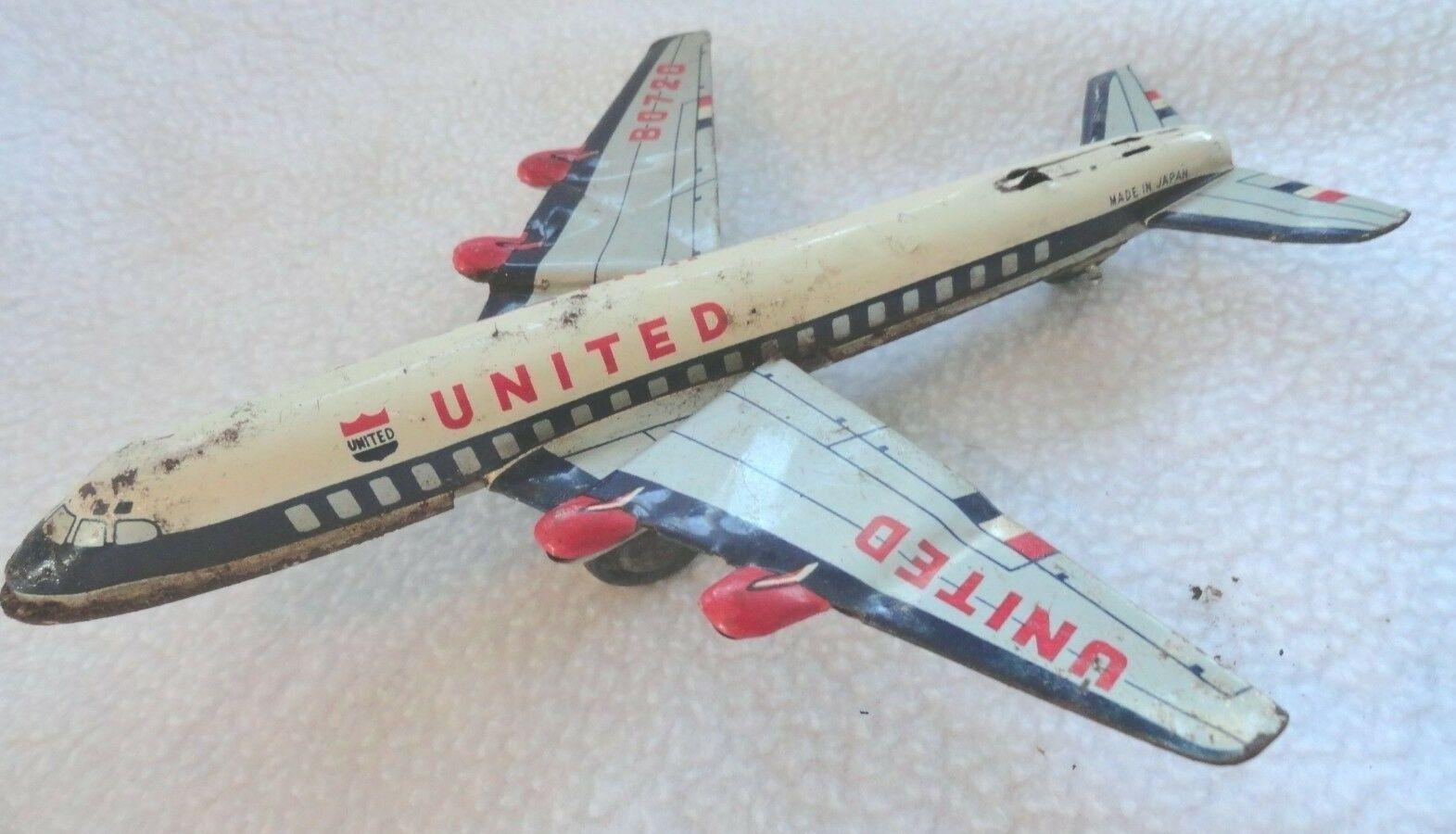 Avión De Juguete De De De Metal Vintage B0720 EE avión comercial-Japón f5a775