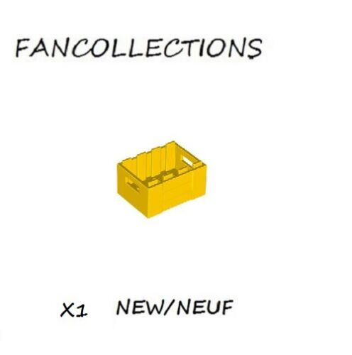LEGO x 1 Crate with Handholds 30150 NEUF Yellow Container