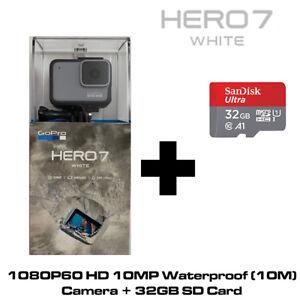 GoPro Hero7 White - 1080P60 10MP WaterProof 2x Slo-Mo Camera + 32GB SD Card
