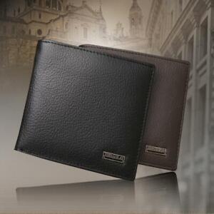 Fashion-Photo-Credit-Card-Holder-Men-039-s-Purse-Bifold-Wallet-Genuine-Leather