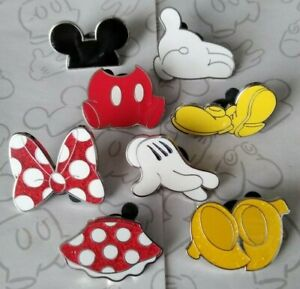 Mickey-amp-Minnie-Mouse-Body-Parts-Icons-Booster-Set-Choose-a-Disney-Pin