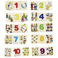 Puzzle Zählen und zuordnen aus Holz 57594  Goki  - neu -