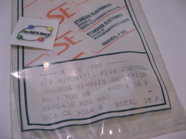 Details about MES780 IC TV Auto Fine Control Cascode Amplifier Repl  ECG780  CA3064H Can - NOS
