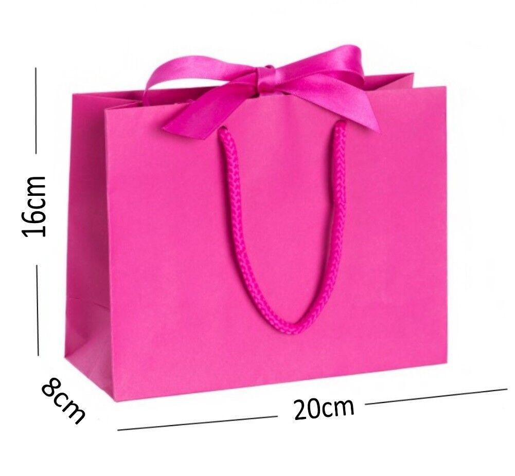 Cerise Rosa Boutique Shop Small Ribbon Gift Bags Handle