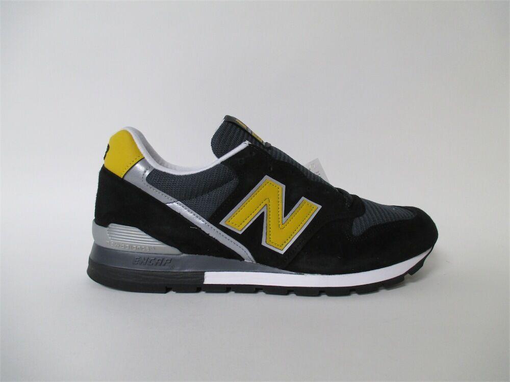 New Balance 996 Made in USA Black Yellow Grey White Sz 7.5 M996CSMI