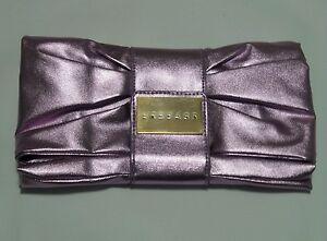 Image is loading VERSACE-Perfume-Ultra-Femme-Metalic-purple-Clutch-Evening- fc86fabea8