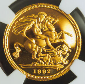 1993-Great-Britain-Elizabeth-II-Proof-Gold-Soverign-Coin-NGC-PF-68-UC