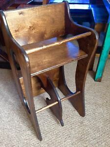AMISH BUILT 3 IN 1 ROCKING HORSE HIGH CHAIR DESK CHRISTMAS TOYS EBay