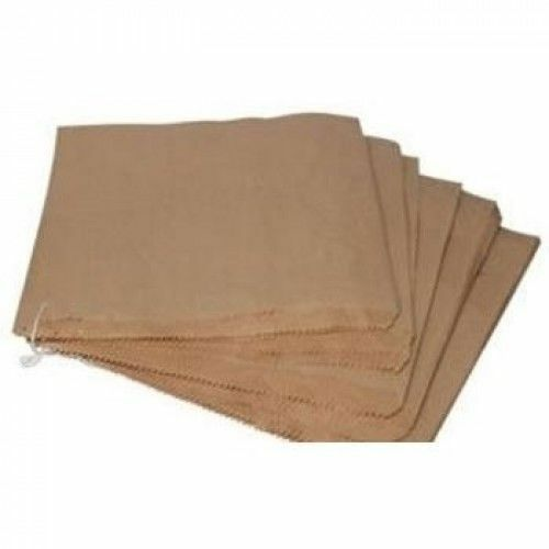 5000 - 8.5  X 8.5  Marron Kraft Plat Enfilées sacs en papier alimentaire Sandwich grocery Bag