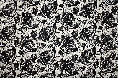 Limited Stock!! Cotton Sateen Bold Abstract Rose Print Dress Fabric Material