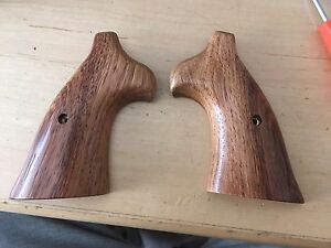 Herrett Rosewood Grips For Smith Amp Wesson N Frame Square