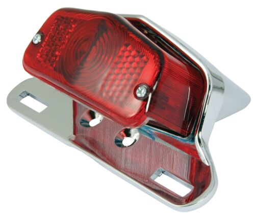 COMPLETE UNIT 12V 21W NEW UNIVERSAL LUCAS TYPE REAR STOP//TAIL MOTORCYCLE LIGHT