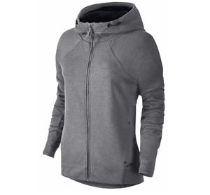 5d8c5a81accf NEW Nike Women s Tech Fleece Full Zip Jacket Hoodie Grey 806329 091 ...