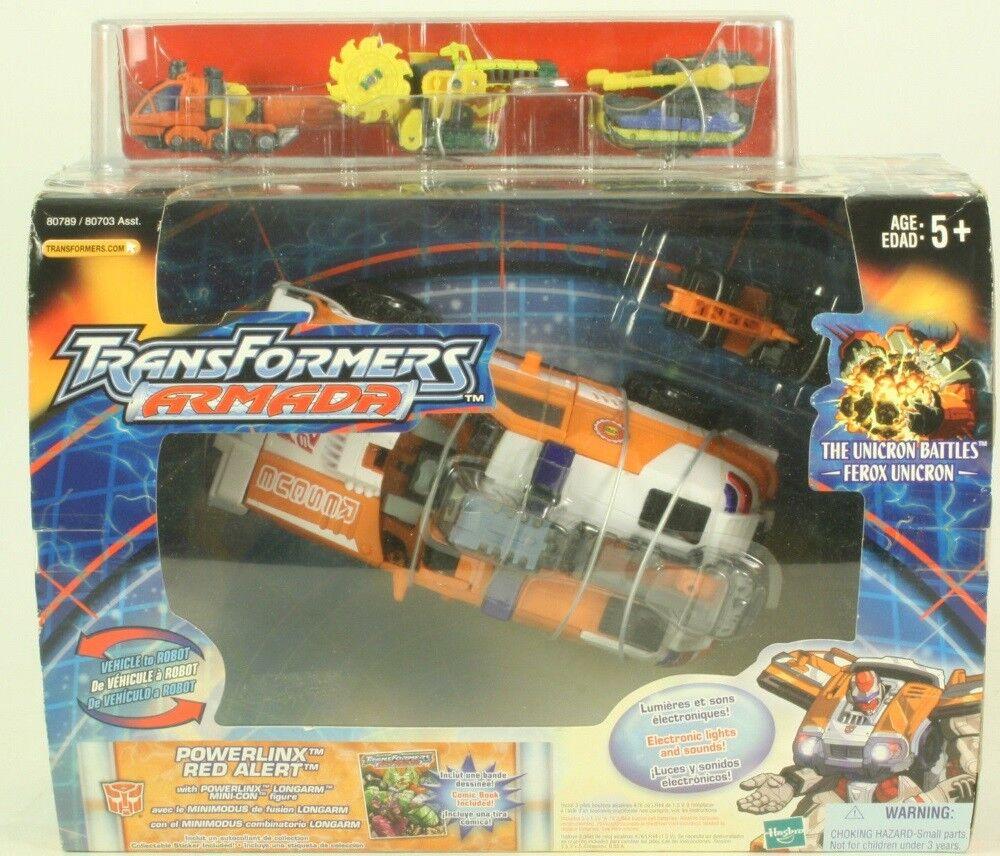 Transformers Armada Powerlinx Red Alert With Longarm Plus 3 Bonus Mini-Cons MISB