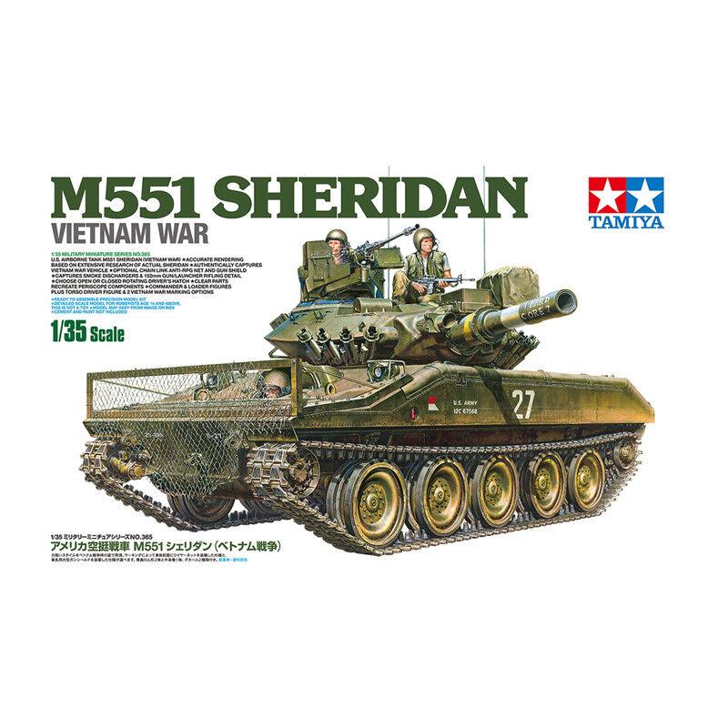 Tamiya M551 Sheridan Vietnam War Tank Model Kit Scale 1 35 35365