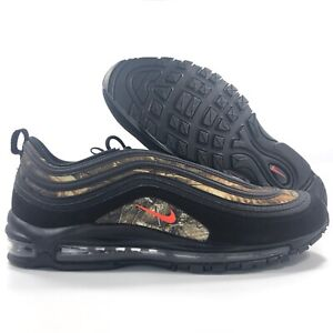 Details about Nike Air Max 97 RLT Realtree Camo Black Team Orange Brown BV7461 001 Men's 15