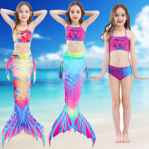 Schwanz flosse Meerjungfrauen Kinder Bikini Mermaid Meerjungfrau Monoflosse DHL