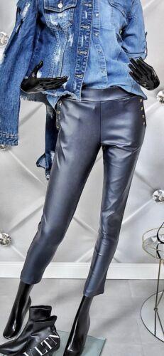 38 Damen  Kunstleder Hose Röhre Röhrenhose Leder Hose Leder Look Skinny Gr