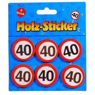 """Geschenk Aufkleber """"40"""" Aus Holz Verpackungs Deko Geburtstags Deko Holz Sticker"""