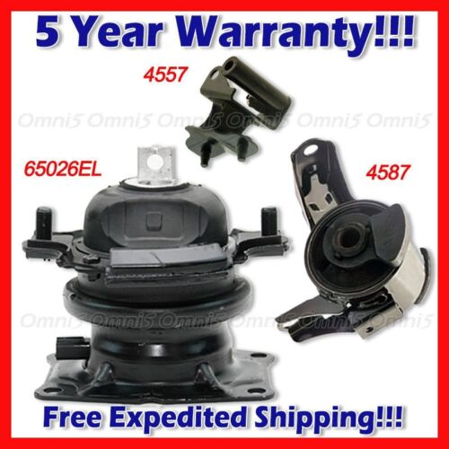 L667 For 07 Honda Odyssey 3.5L i-VTEC AUTO FRT RT Motor /& Rear Trans Mount FRT
