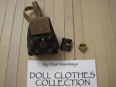Fashion Royalty doll's bag/watch for Poppy Parker, Agnes, Jem,FR2,Momoko,Barbie