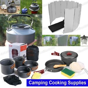 Portable camping cookware kit outdoor backpacking hiking for Outdoor kitchen equipment