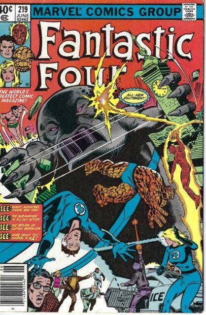 Fantastic Four #219; Upper Mid Grade Marvel Book; Sub-Mariner,Sienkiewicz
