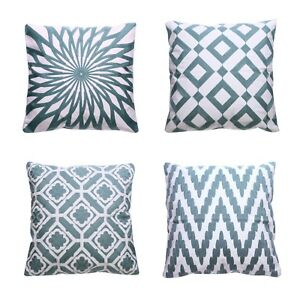 Enjoyable Details About Decorative Throw Pillow Covers Geometry Pattern Cushion Cover 18 Square Set 4 Gmtry Best Dining Table And Chair Ideas Images Gmtryco
