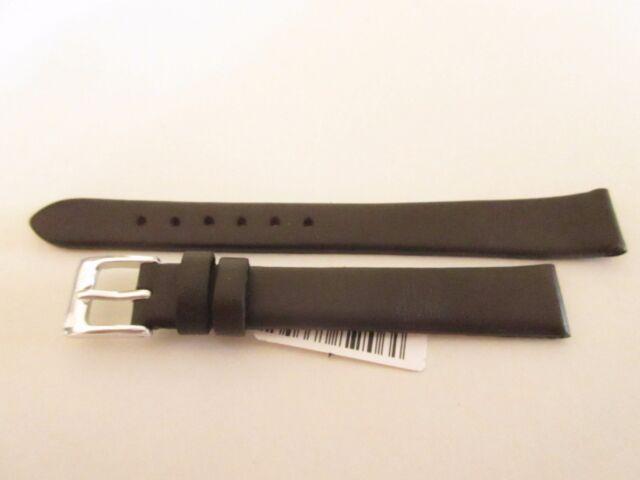 Birke Dunkelbraun Leder Uhrenarmband 12mm Band Silber Schnalle