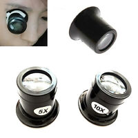 Nice 5X 10X Watch Repair Eyes Loupe Jeweller Glass Magnifier Magnifying Tool