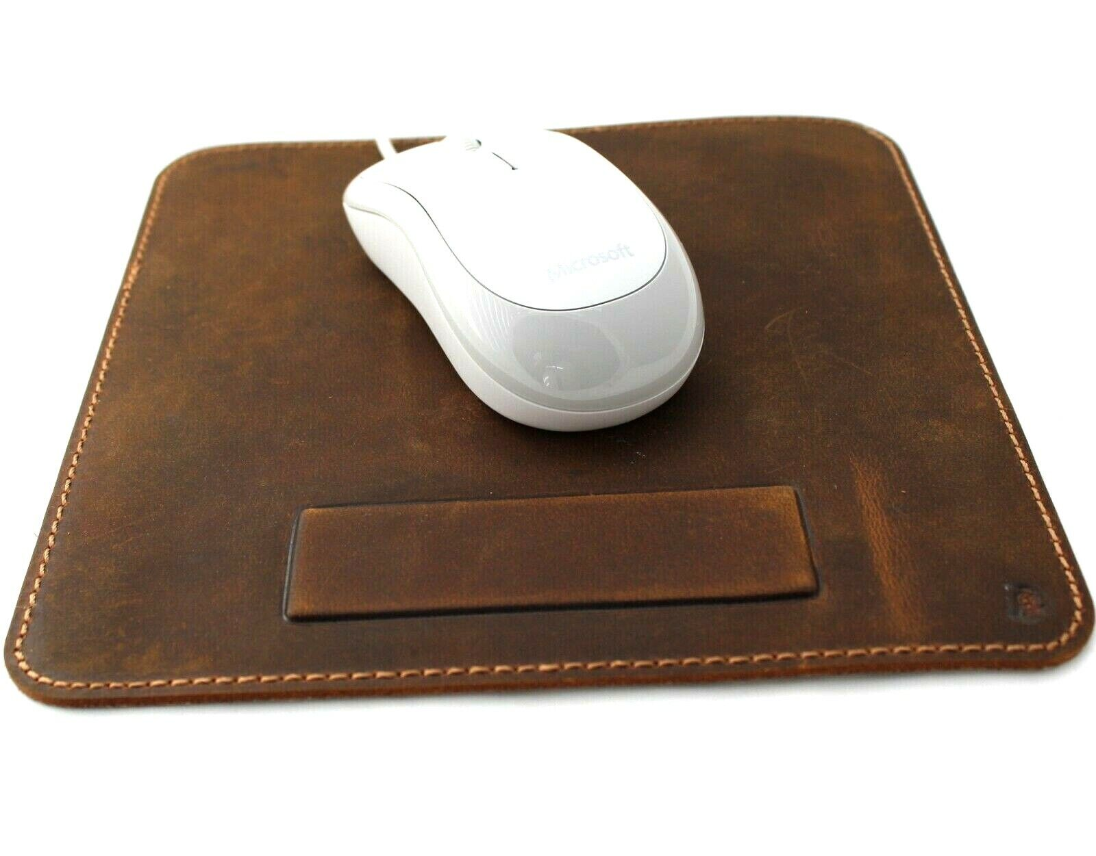 Image 1 - Handmade Genuine Leather Mouse Pad Luxury Handcrafted soft Vintage Retro Case