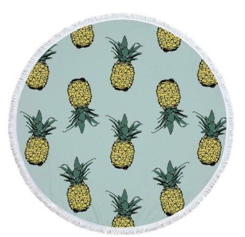 Details about  /3D Pineapple Leaves NA4962 Summer Plush Fleece Blanket Picnic Beach Towel Fay