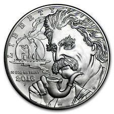 2016-P Mark Twain $1 Silver Commem BU (w/Box & COA) - SKU #95812