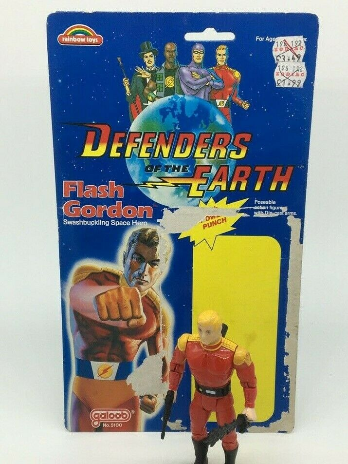 Flash Gordon Gordon Gordon Defenders of the Earth, vintage 80'S Toys figure, ming, galoob 5e2e7f
