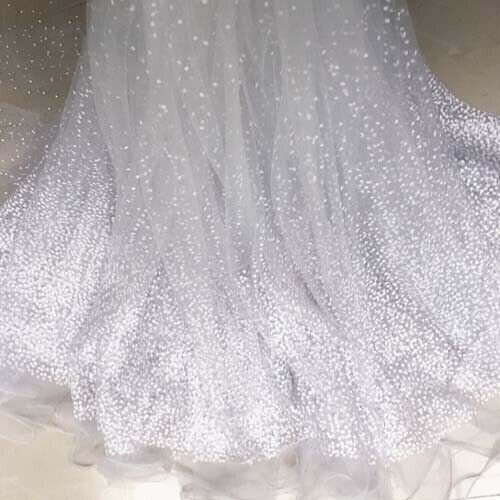 "1 Yard Lace Fabric For Wedding Dress Curtain Clothes Tulle Mesh Fabric 59/"" Width"