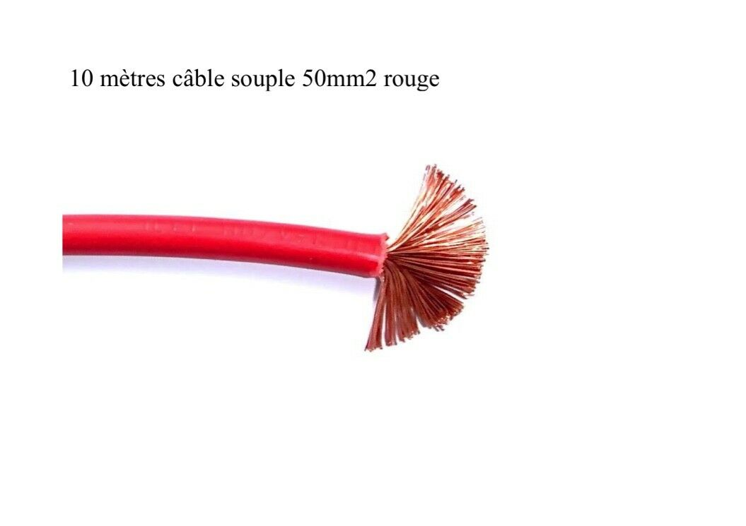 Batteriekabel flexibel 50 mm2 rot 10 meter
