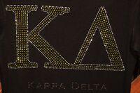 Kappa Delta Kd Rhinestone Bling Hoodie Sweatshirt S M L Xl 2x 3x 4x 5x