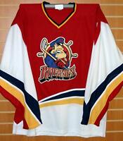Peoria Rivermen IHL Vintage Authentic On Ice Game Issued Hockey Jersey 56 RARE