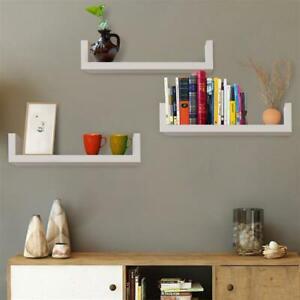 Home Decor Floating Wall Shelves 3PC Ledge Shelving Storage Shelf Display USA!!