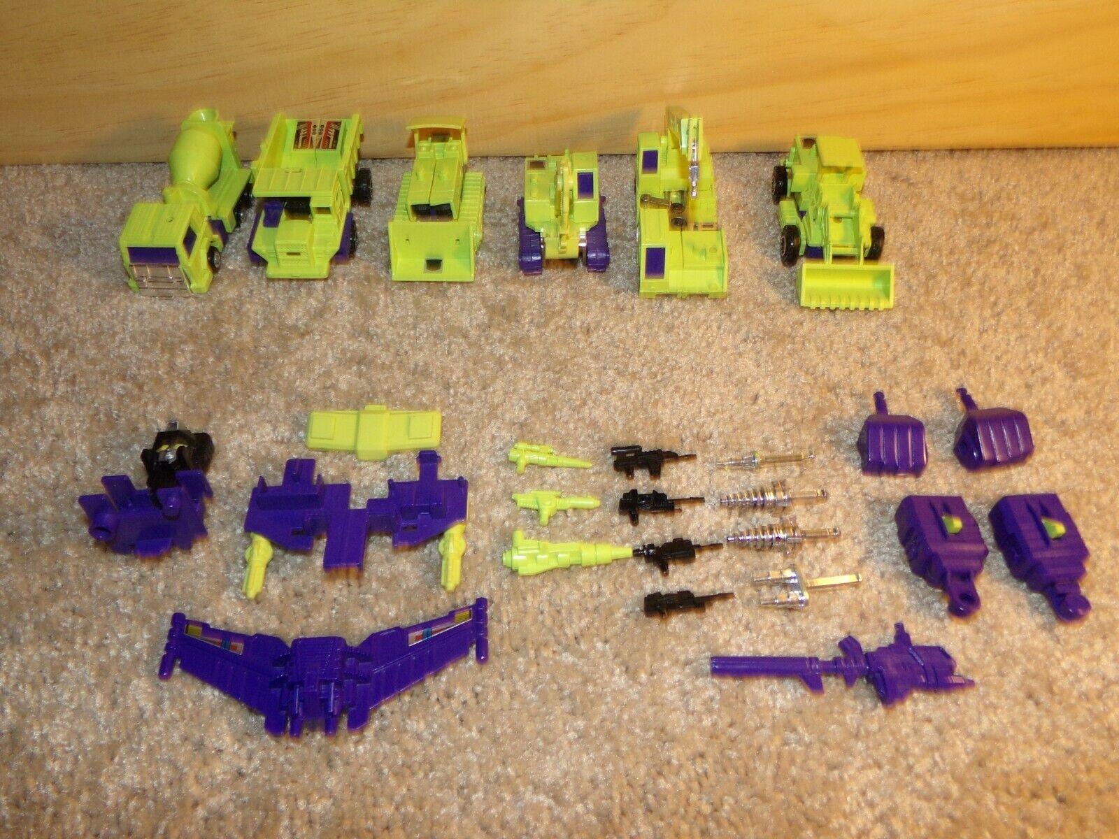 Devastator constructicones Completo Conjunto Menta G1 intacto Transformer Retro