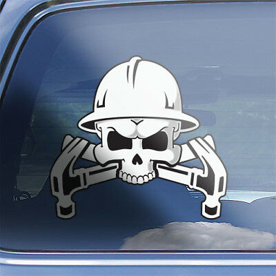 Hard hat decals Construction helmet decals Skull 2 Contractor Sticker Skull#3