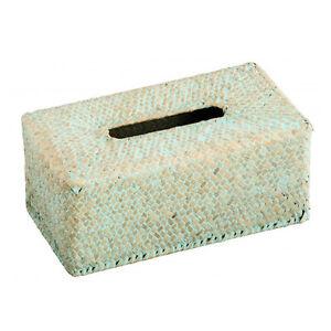Kosmetiktücherbox in crine vegetale marino verde  </span>