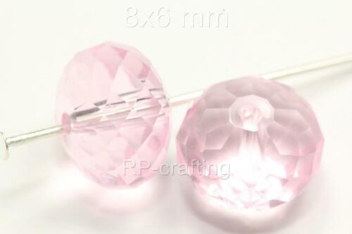 25 x Top Quality Austria Rondelle Crystal Beads 8x6mm for Swarovski #5040 U Pick