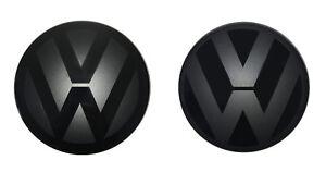 VW-Zeichen-Schwarz-Vorne-T-Roc-A1-ACC-Faceliftmodell-foliert-Emblem-Style-Sport