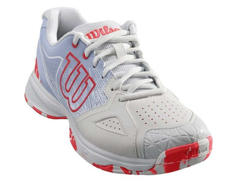 Wilson Kaos Devo Ladies White Halogen bluee Fiery Coral