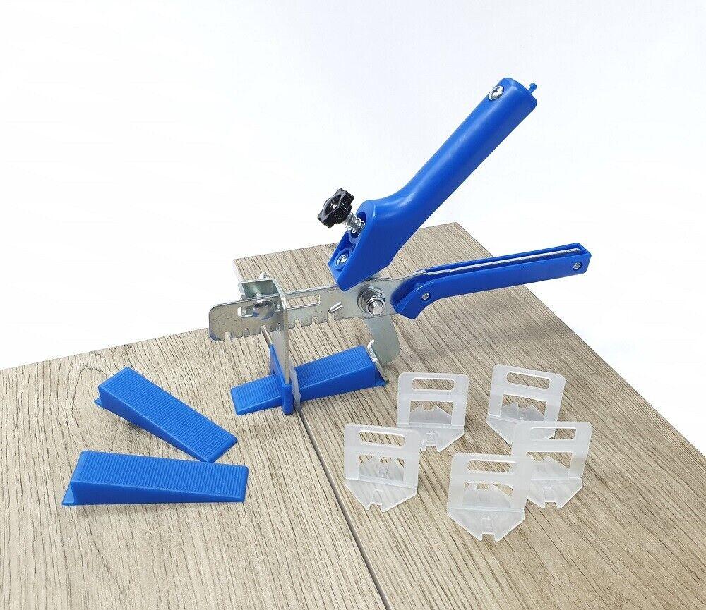 Fliesen Nivelliersystem - Sets blau Verlegehilfe Fliesen Plan Laschen Keile