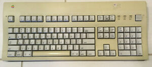 Apple-keyboard-M3501-Extended-Keyboard-II-WORKING-for-IIGS-Macintosh-Mac