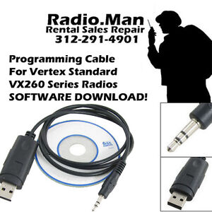 Details about Vertex USB Programming Cable+ Software download VX451 454 459  Series Radio CE115