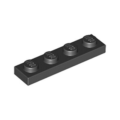 LEGO Parts and Pieces Black 1x4 Plate x200